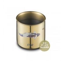 250ml純鈦雙層杯-香檳金